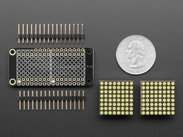 Adafruit 0 dot 8 8x16 led matrix featherwin 3262193772