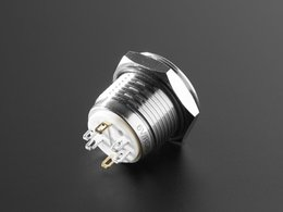 Rugged Metal Pushbutton - 16mm 6V RGB Momentary Switch