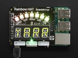 Pimoroni rainbow hat for android things 4267745080