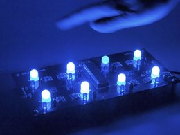 Octolively Kit - Blue - Tileable Interactive LEDs